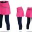 กางเกงกระโปรงปั่นจักรยานขายาวผู้หญิง 3/4 SOUKE สีชมพู : SKT0205 thumbnail 1