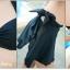 ชุดว่ายน้ำ บิกินี่เซ็ท 3 ชิ้น บราผูก พร้อมผ้าเอนกประสงค์ สีดำ thumbnail 5
