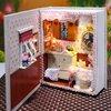 บ้านตุ๊กตาจิ๋ว DIY mini book case - ห้องน่ารักในหนังสือ