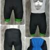 กางเกงปั่นจักรยานขาสั้น NPDSPORT Anti-Slip (ปลายขา Laser Cutting) ปลายขาสีเขียว: PS17013