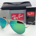 Ray Ban RB3025 112/19 Aviator Gold frame Green Mirror 58mm
