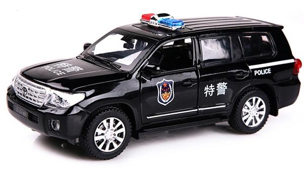พร้อมส่ง รถโมเดล รถเหล็ก มีไฟมีเสียง Toyota ตำรวจ 1:32 มี